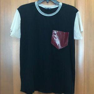 Zara mixed material shirt